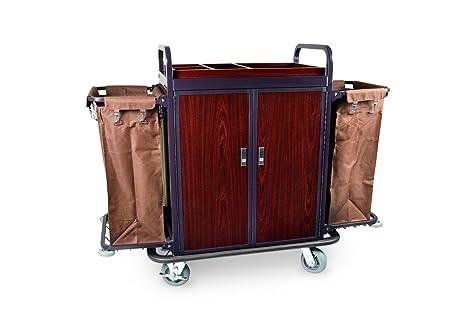 Premium habitaciones Service carro, marco de acero lacado – 2 Schwenkbare ruedas diámetro de 15