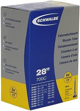 Schwalbe 17SV-EL - Cámara de Aire para Bicicleta, tamaño de la ...