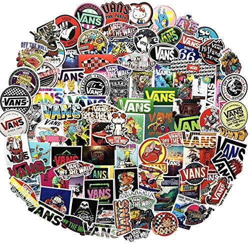 Fashion Vs Logo Brands Skateboard Stickers[100PCS] - Vinyl Sticker for Snowboard Laptops Cars Motorcycle Bike Luggage - Street Dreams Culture Graffiti DIY Patches Decals for Adults Boy Skateboarders