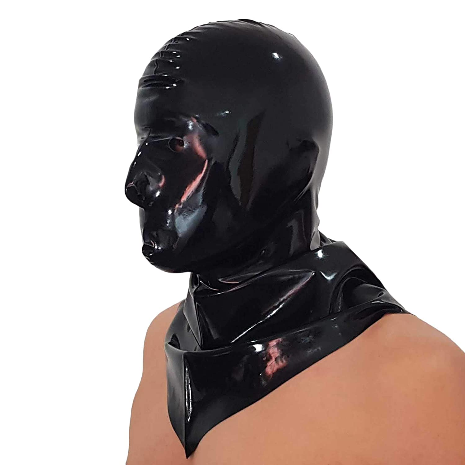 one size Latex Rubber Breather Hood Mask