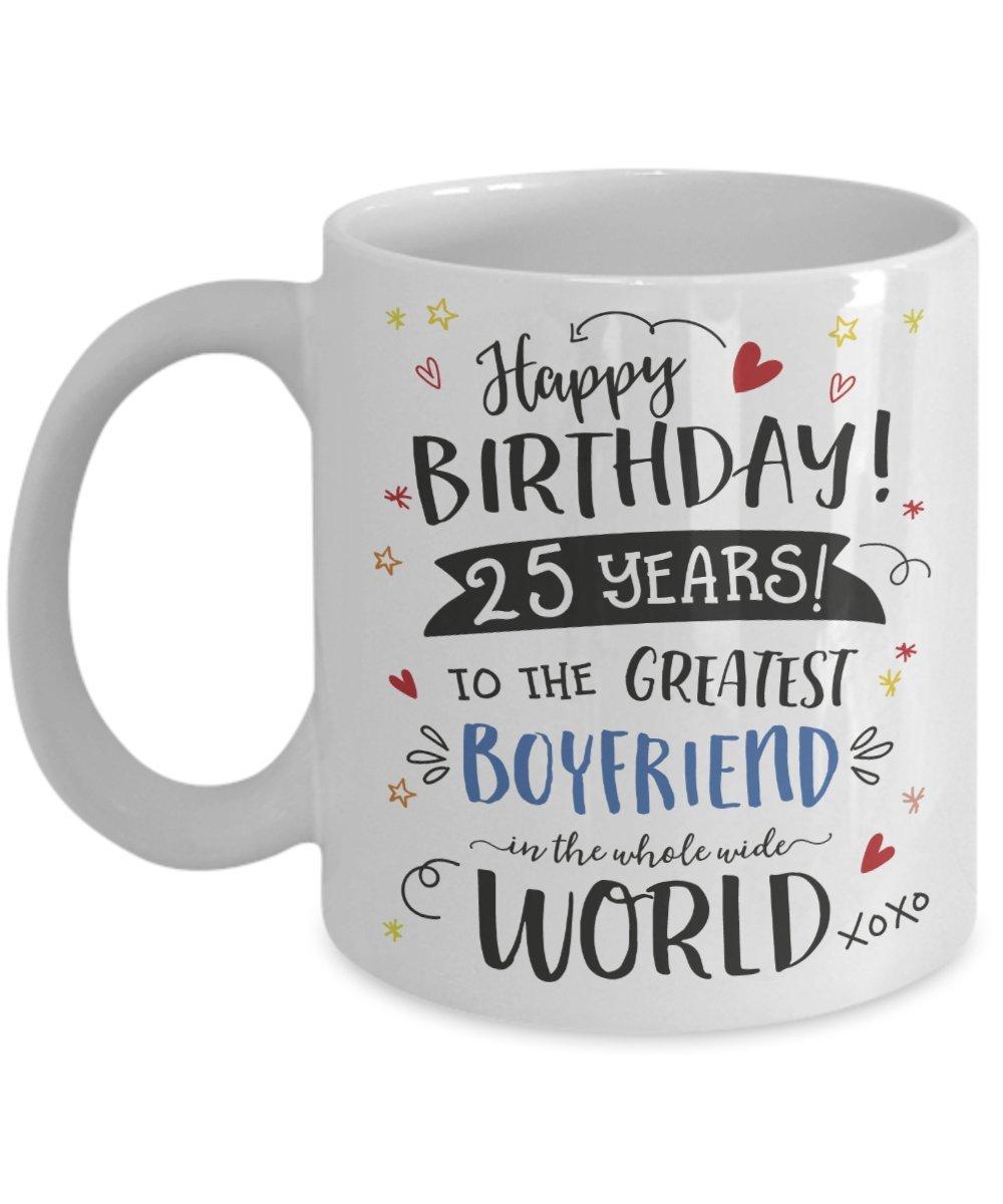 25th Birthday Gift Mug For Boyfriend