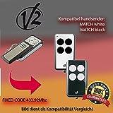 V2Match Blanc/match Noir Compatible émetteur manuel, émetteur de rechange, 433.92Mhz Fixed CODE KEYFOB