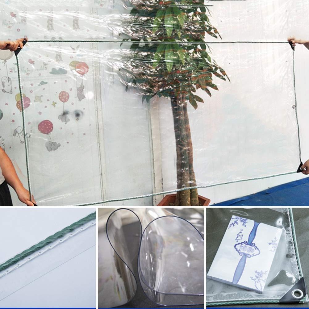 11 Gr/ö/ßen YANGJUN-Plane Transparent Verdicken Sie PVC Staubdicht K/älteschutz Winddicht Isolierplane Farbe : Klar, gr/ö/ße : 0.9x1.4m