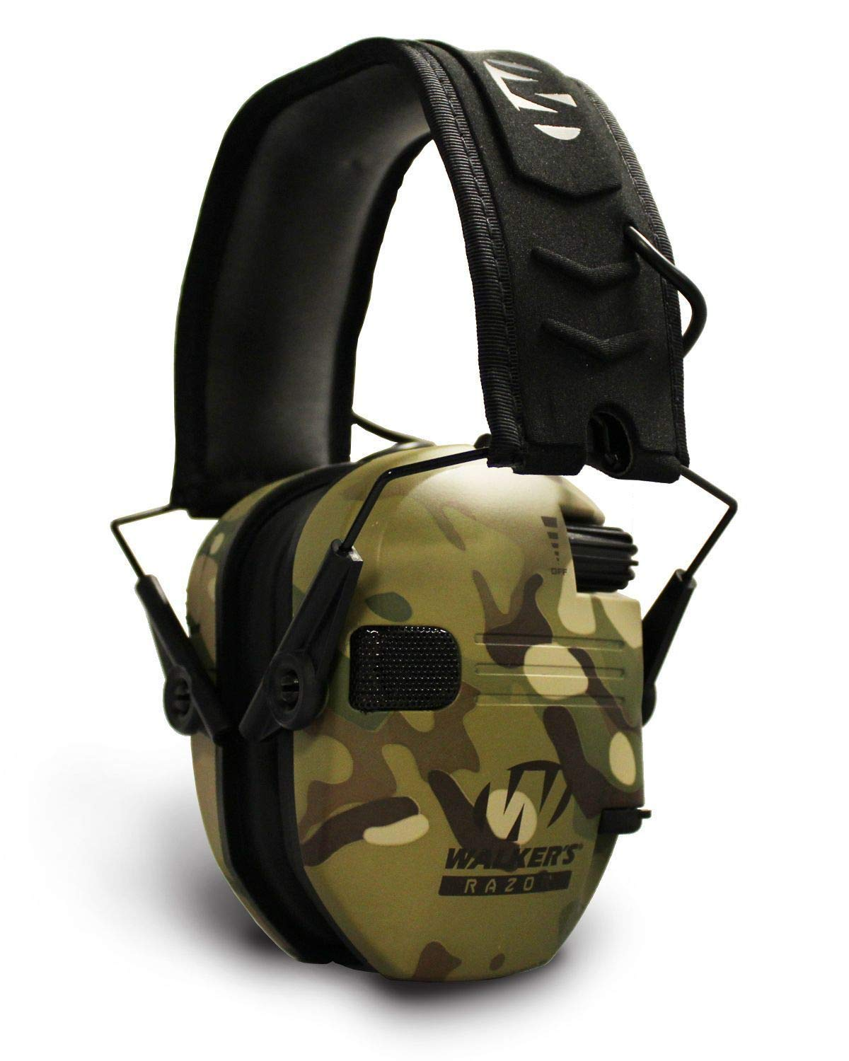 Walkers Razor Slim Electronic Shooting Hearing Protection Muff, Multicam, Tan (Sound Amplification and Suppression) with Shooting Glasses Kit by Walkers (Image #4)