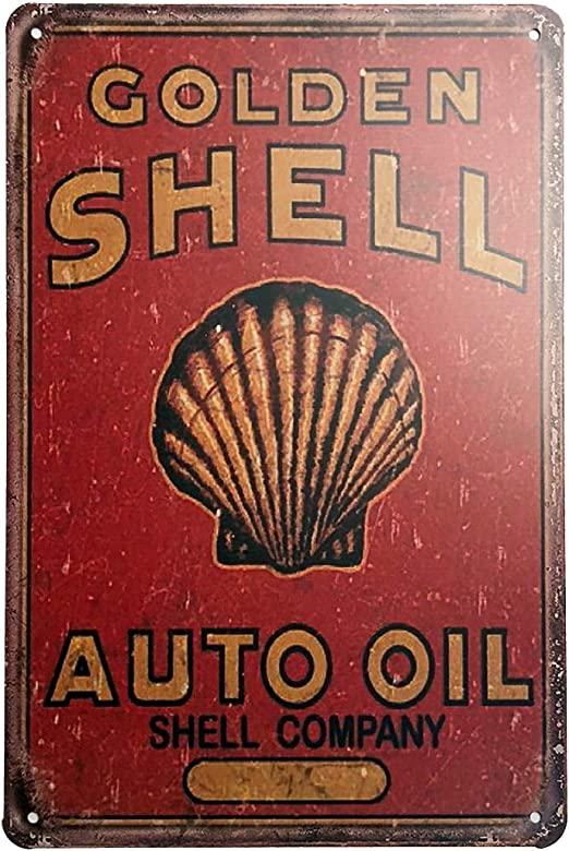 VINTAGE RETRO STYLE METAL TIN SIGN POSTER GILMORE GASOLINE CAVE WALL HOME