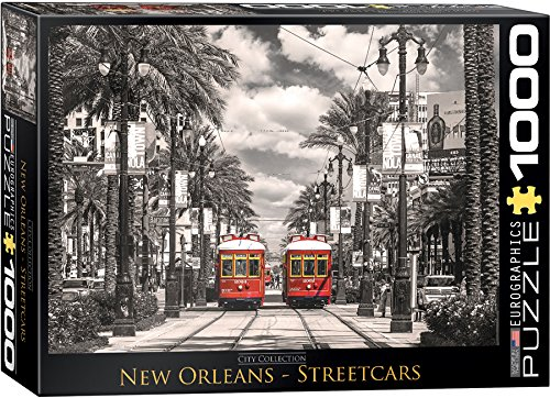 EuroGraphics New Orleans Streetcars Puzzle (Jigsaw Puzzle New Train)