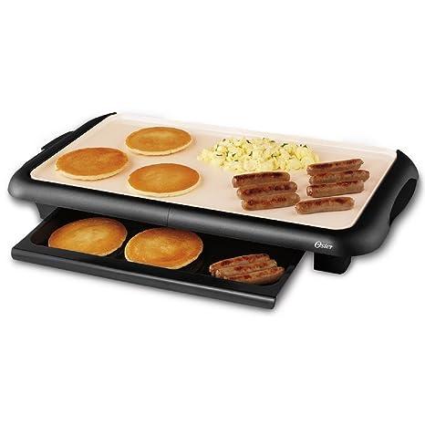 Incroyable Amazon.com: Oster Titanium Infused DuraCeramic Griddle With Warming Tray,  Black/Crème (CKSTGRFM18W TECO): Electric Griddles: Kitchen U0026 Dining