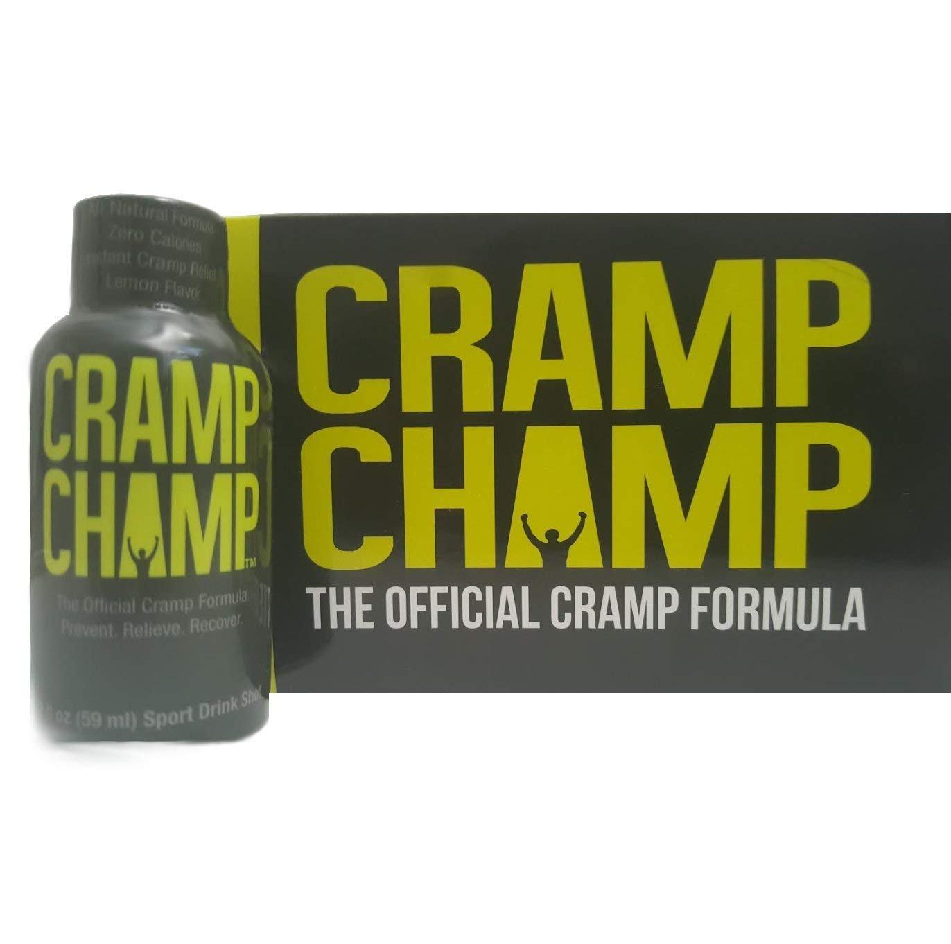 Cramp Champ - Muscle Cramp relief, natural sports drink shot. For calf, leg, foot etc. (12 Pack) 2oz bottles