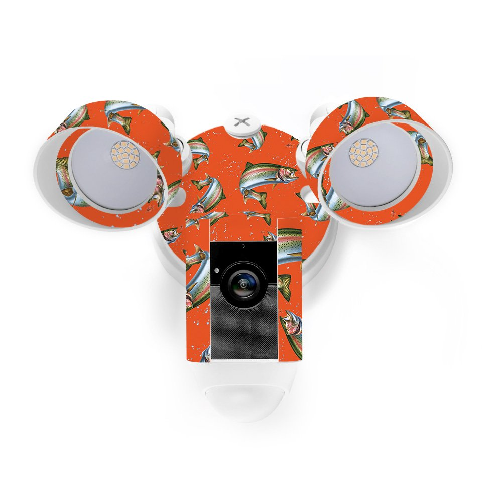 MightySkins Skin for Ring Floodlight Cam - Trout Collage Protective, Durable, and Unique Vinyl Decal wrap Cover | Easy to Apply, Remove, and Change Styles | Made in The USA