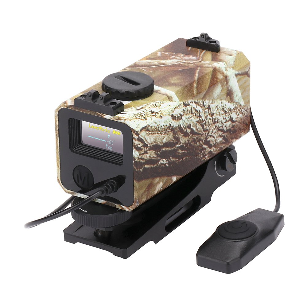 LaserWorks LE-032 Riflescope Mate rangefinder 700M Mini Tactical Outdoor Hunting Shooting Range Finder Archery Crossbow Sight Target Scope Camouflage