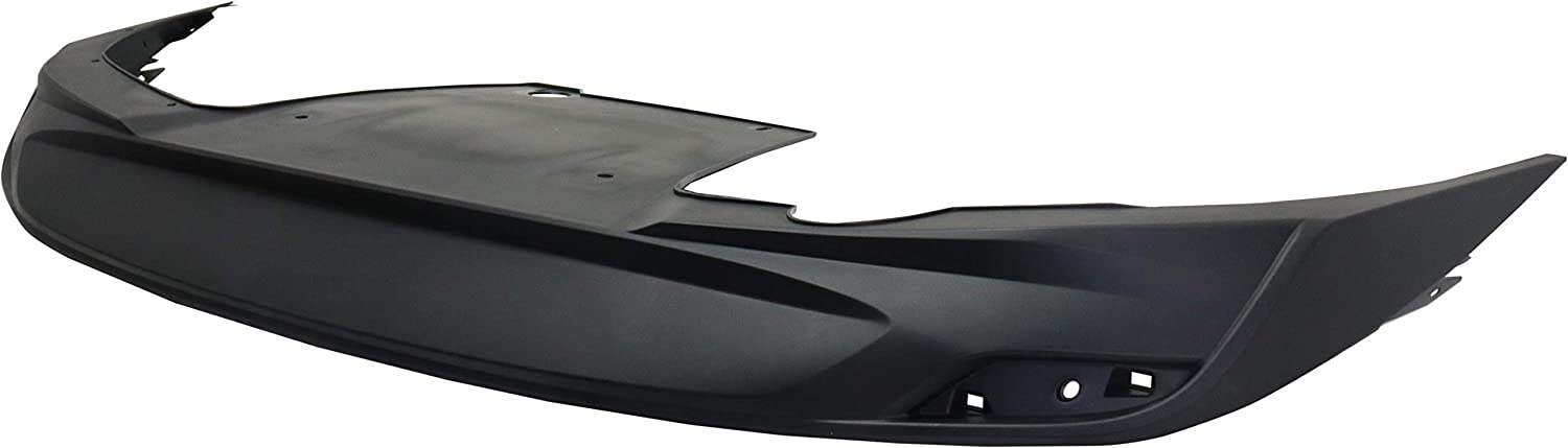 CAPA Rear Lower Valance Compatible with 2016-2018 Chevrolet Malibu Textured Black LT//Premier Models with Exhuast Opening