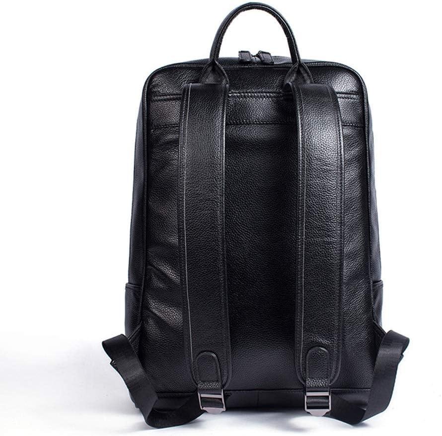 Mens Backpack Men Leather Laptop Backpacks Casual Daypacks Fashion Backpacks Mens School Business Travel Bag Large Capacity Retro Vintage Briefcase Laptop Rucksack for Men
