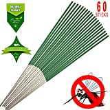 KKPOT Mosquito Sticks, Citronella Lemongrass Incense Sticks (Pack of 60)