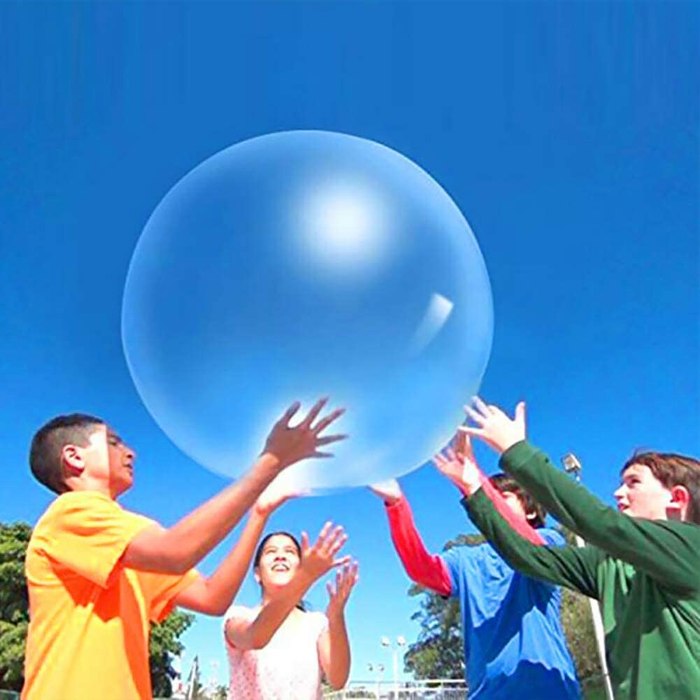 Medium-50CM, Green Water-Filled Interactive Rubber Big Amazing Bubble Balls Outdoor Play for Children Adults 6PCS Beach Bubble Ball Filled with Water Balloon Big Bubble Ball Water Filled Ball