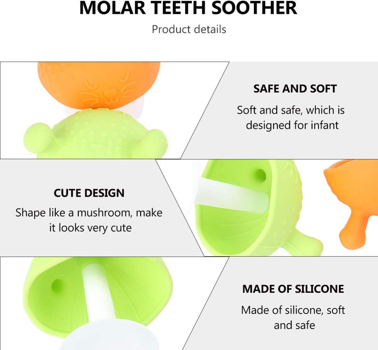 EXCEART 2 Piezas de Silicona Juguetes para La Dentici/ón Del Beb/é Mordedor Sonajero para Beb/és Chupete Relajante Juguetes para Morder para Beb/és Reci/én Nacidos Color Aleatorio