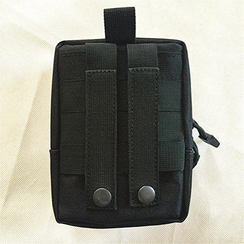 Saumota Mini Molle Nylon Utility First Aid Bag Waist Bag Tactical Pack Black