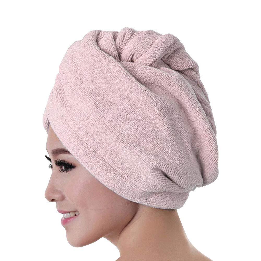 Women Hair Dry Hat,Head Bath Towel Microfiber Cap,Button Foldable Wrap Head Turban,Lady Quick Drying Bath Tool,Adjustable Bath Cap, Water Absorption Cap for Swimming Party