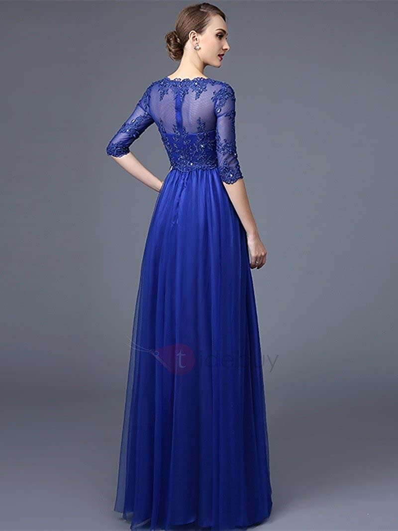 72a50164cc Julang Women s Lace Long Sleeve Floor Length Evening Dress at Amazon  Women s Clothing store