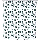 Uneekee Soccer Shower Curtain: Large Waterproof Luxurious Bathroom Design Woven Fabric