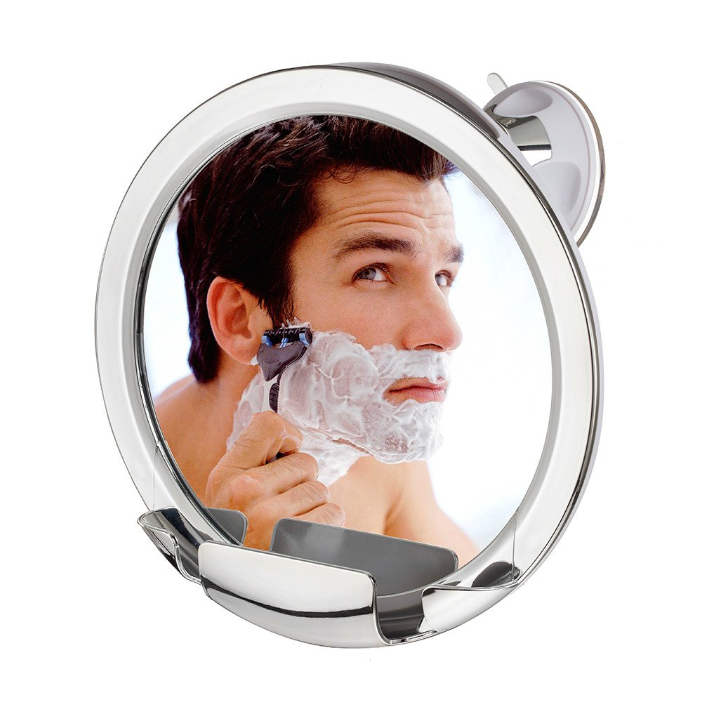 Cheftick Fogless Shower Mirror with Built-in Razor Holder, 360 Degree Rotating for Easy Mirrors Viewing, Advanced Locking Suction & Adjustable Arm, Shatter-proof, Guaranteed Not to Fog!