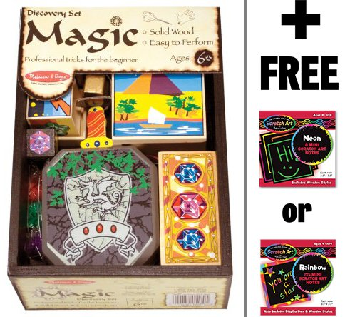 Melissa & Doug Discovery Magic Set & 1 Scratch Art Mini-Pad Bundle (01280)