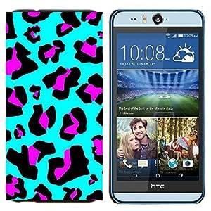 EJOOY---Cubierta de la caja de protección para la piel dura ** HTC Desire Eye M910x ** --Patrón de piel azul púrpura abstracto