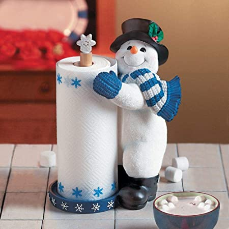 Snowman Winter Christmas Standing Paper Towel Holder Amazon