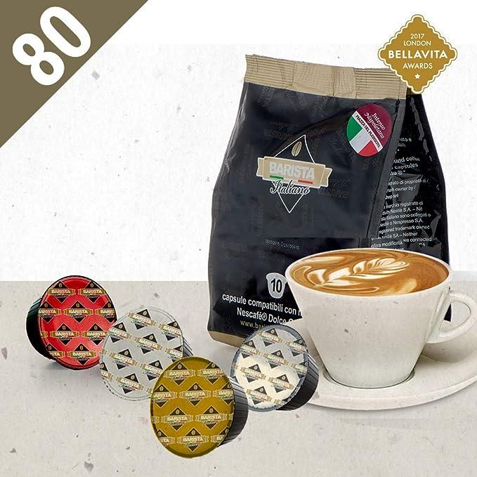 Barista Italiano 80 Dolce Gusto Cápsulas Compatibles (CAPPUCCINO, 80 Cápsulas, 40 Porciónes,
