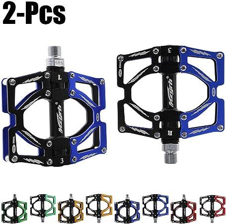 Pedales De Bicicleta De Montaña, 3 Rodamientos, Pedales, Pedales De Aluminio Antideslizantes, para Pedales Híbridos De Bicicleta De Montaña MTB BMX 9/16,Azul: Amazon.es: Hogar