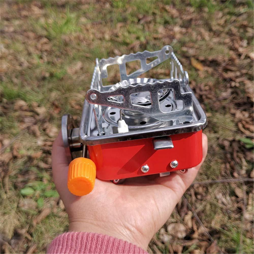 Happy youyong Estufa de Gas para Camping Port/átil a Prueba de Viento Al Aire Libre Plegable a Prueba de Viento Encendido piezoel/éctrico Estufa de Gas Estufa de Cocina Quemador de Piezas