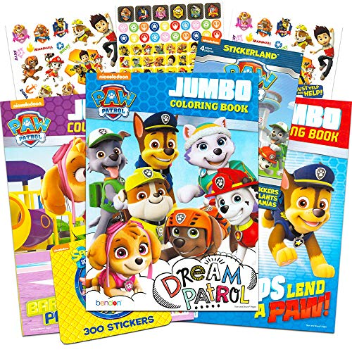 Paw Patrol Coloring and Activity Super Set Paw Patrol Party Pack 2 Jumbo Paw Patrol Coloring Books with Bonus Paw Patrol and Blaze Stickers