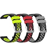 Fymint 3-Pack Soft Silicone Smart Watch Bands Replacement Straps Bands for ID205 and ID205L Smart Watch