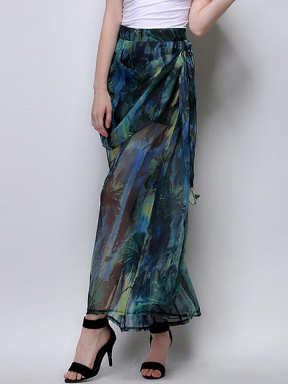 Enlishop Women's Plus Size Floral Print Wide Leg Palazzo Gaucho Pants