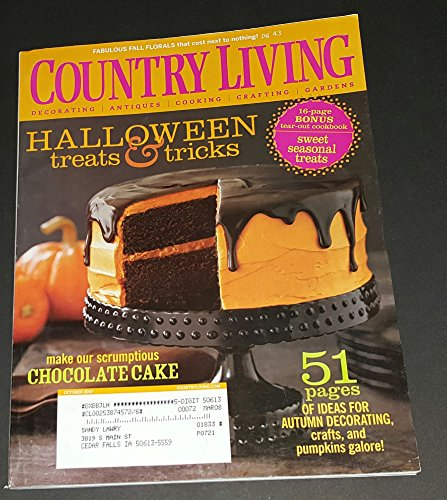 Country Living, October 2007 issue-Halloween Treats & Treats. 51 Pages of Ideas For Autumn Decorating. -