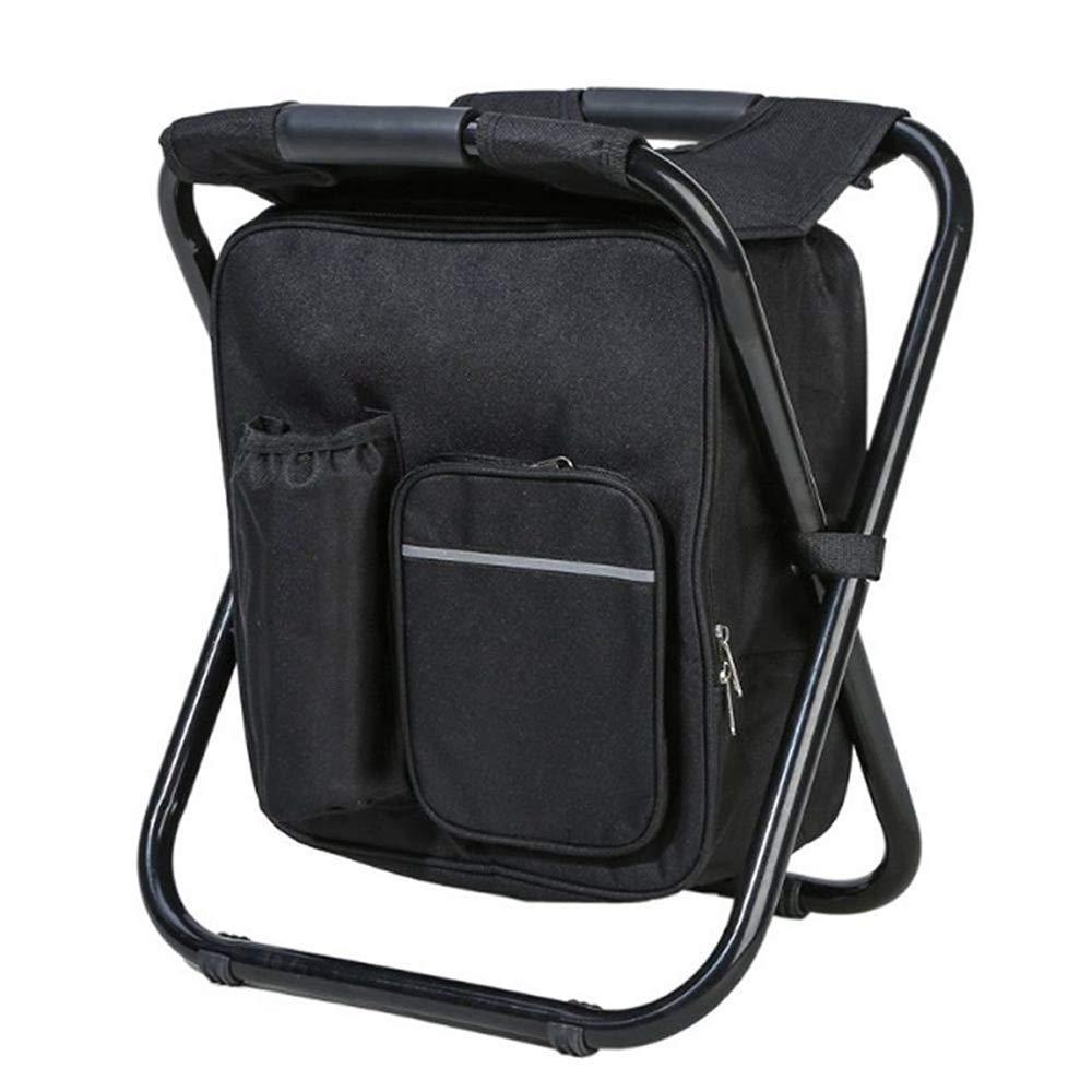 Noir 362941cm Chaise pliante extérieure multifonctionnelle pour la plage de camping de pêche de pique-nique - Léger et portable, Léger en plein air (Couleur   Camouflage, Taille   36  29  41cm)