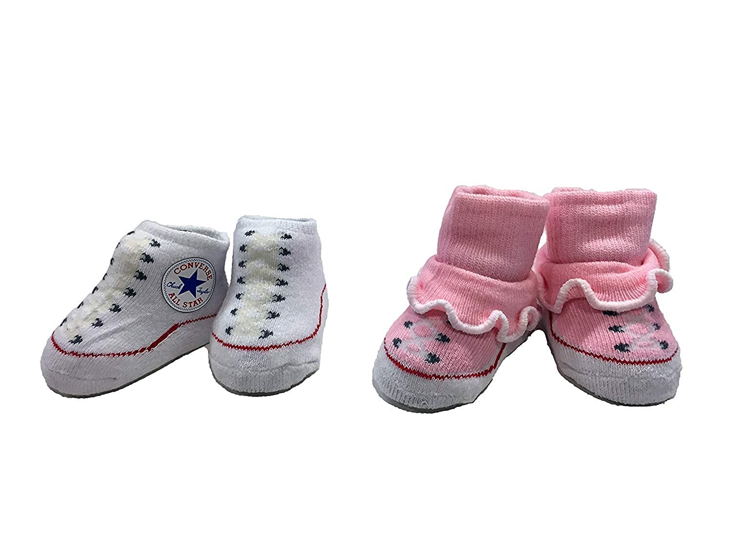 Converse Baby Booties Set for Infant Boys and Girls (0-6 Months) 0 - 6 Months ICV0012