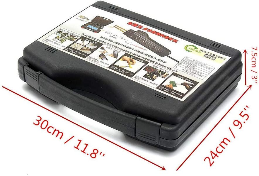 Carrozzeria /& Fender Strumenti Nero Include Pinzatrice//Custodia//Rete//Pinze//Spatola // 2 Pezzi Saldatura Bacchette // 200 Graffette Paraurti Auto Riparazione Plastica Saldatrice Kit