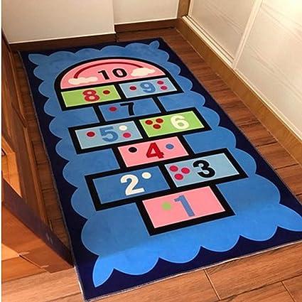 Amazon.com: USTIDE Blue Rug Boys Blue Kids Rug,Children\'s ...