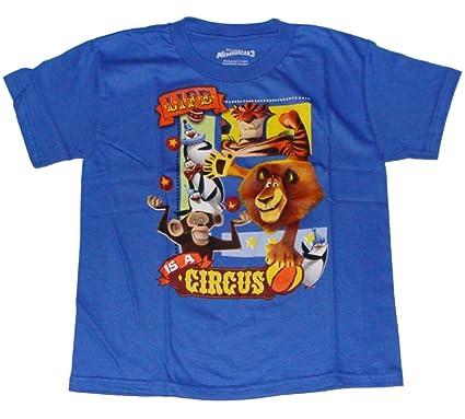 33fb7020 Amazon.com: Dreamworks Madagascar 3 Boys T-shirt (4-7) (7, Blue ...