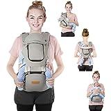 ベビーキャリア ヒップシート 抱っこ紐 OMORC 新生児から3歳まで 対面/前向き抱き/おんぶの9WAY 綿生地 通気メッシュ キャリアヒップシート分離可