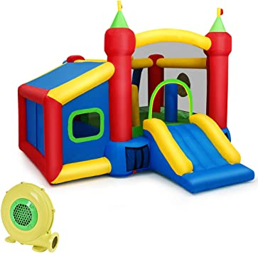 COSTWAY Castillo Hinchable para Niños 380 x 305 x 215 cm Infantil ...