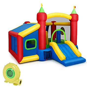 COSTWAY Castillo Hinchable para Niños 380 x 305 x 215 cm ...