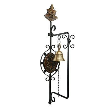 Craftatoz Wrought Iron And Brass Beautiful Antique Inspired Door Bell Wall  Mounted Decorative For Home Decor