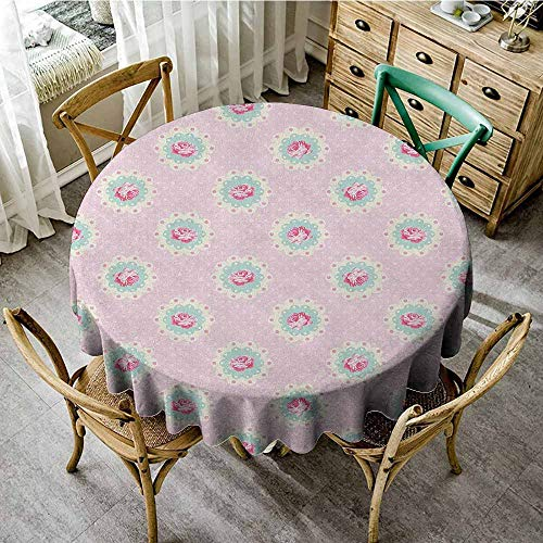 round tablecloth and napkins 63