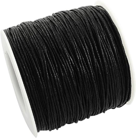 La attrape-rêve 5 metros de cordón negro (algodón encerado, grosor 1 mm patines en Francia Metropolitana: Amazon.es: Hogar