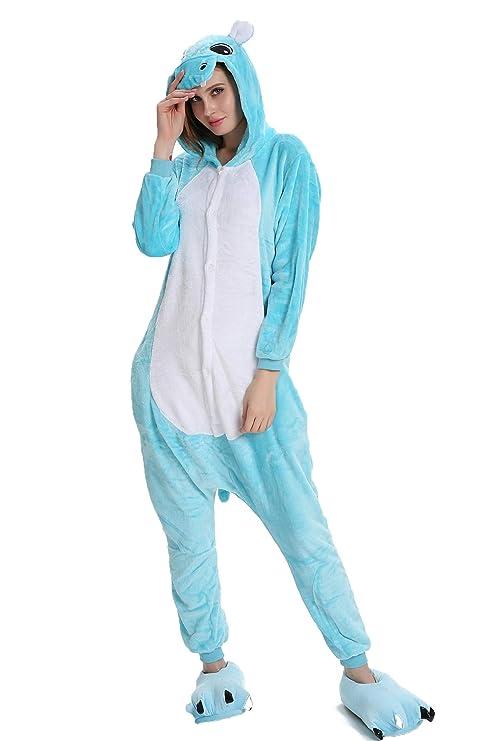 6a609b4524 Kauson Tigre Kigurumi Flanela Unicornio Pijamas la Ropa de Noche del Traje  Onesie 3D Novedad Mono