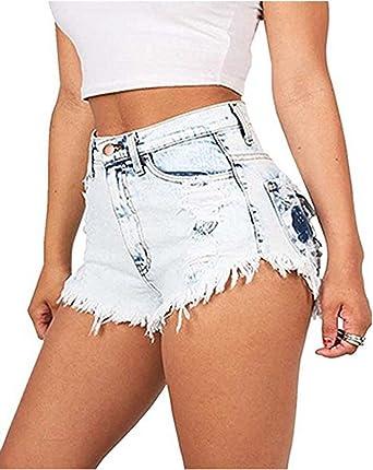 selezione speciale di il prezzo rimane stabile colori armoniosi BAIFERN Womens High Waisted Shorts Stretch Denim Jeans with ...