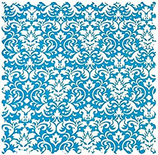 product image for SheetWorld Turquoise Damask Fabric - By The Yard
