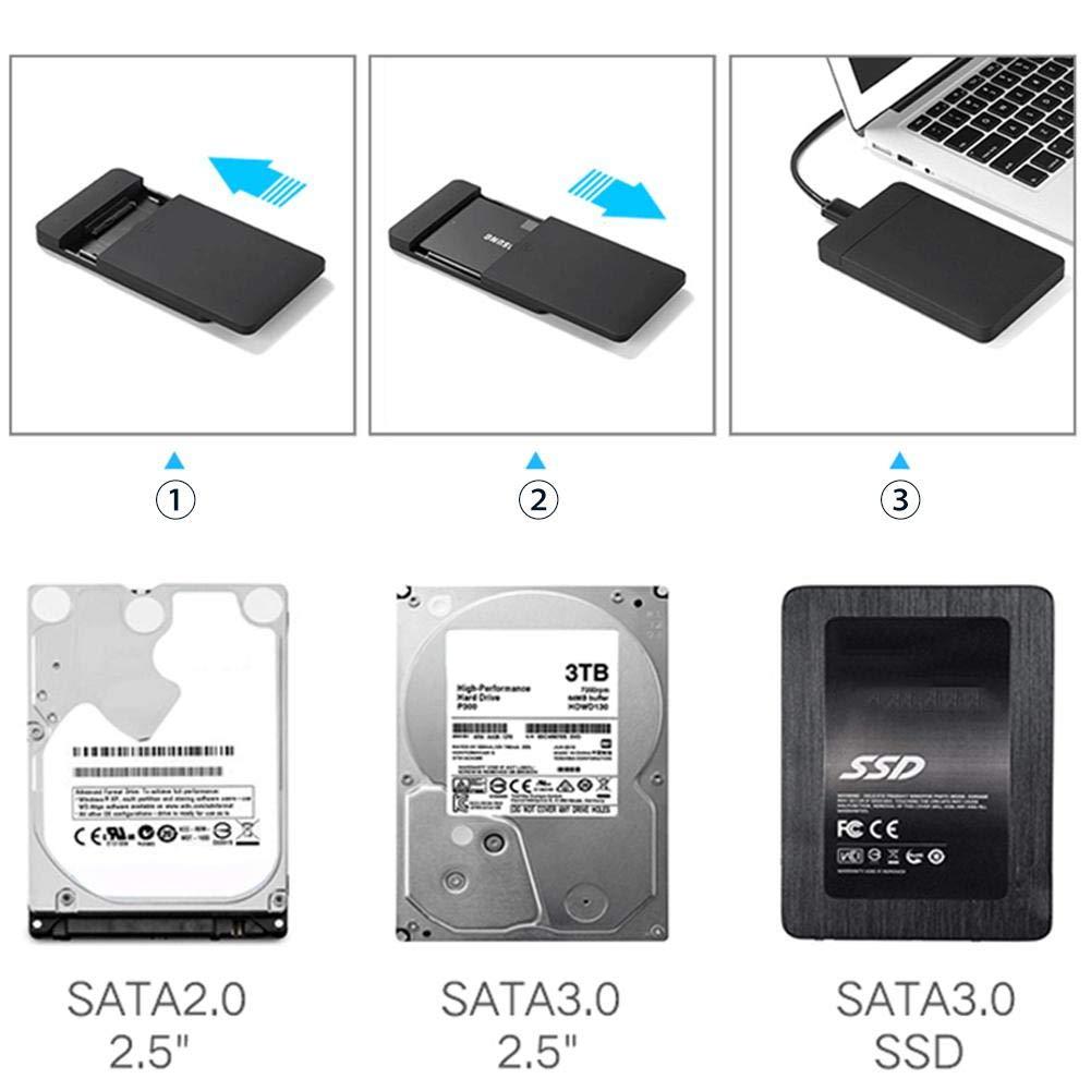 Funda para disco duro externo, adaptador USB 3.0 a funda para ...