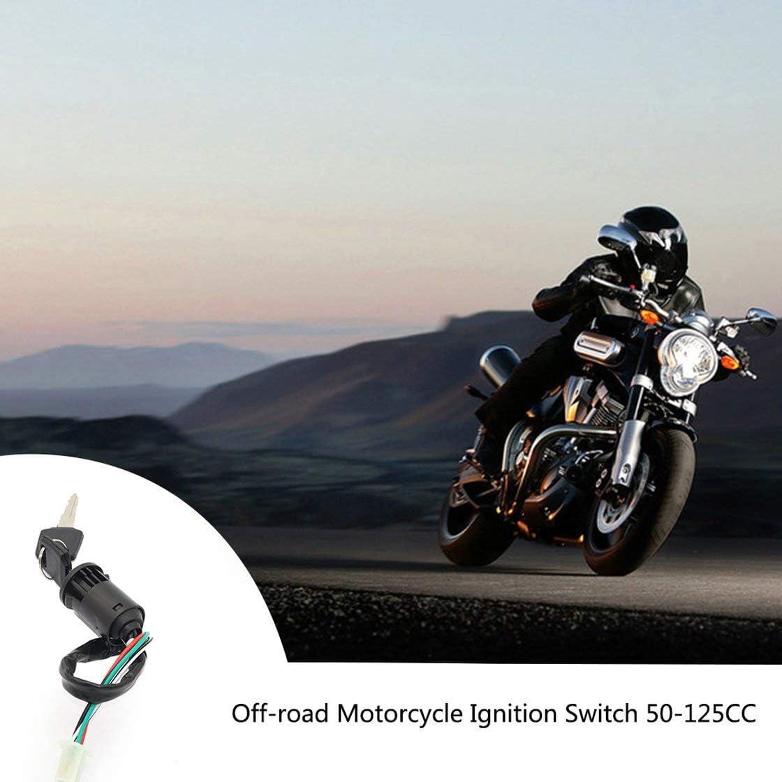 Interrupteur /à cl/é /à 4 fils pour 50cc 110cc 125cc 250cc PIT Quad Dirt Bike ATV